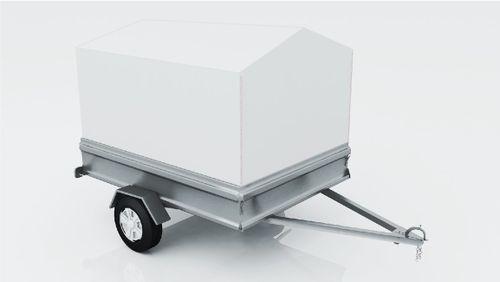 Trolley mit einem Satteldach